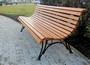 Парковые скамейки из лиственницы на стальных опорах СК16л-2