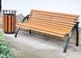 Уличные скамейки на металлокаркасе СТ50л-1,6