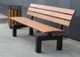 Уличные скамейки на стальных массивных опорах СТ80л-2