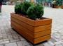 прямоугольные деревянные кашпо для улицы