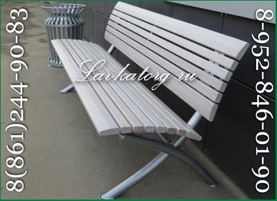 скамейка современная парковая из лиственницы