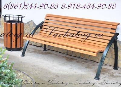Скамейки СТ50л-1,5 и урны УМл-2к