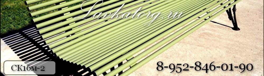 металлические парковые скамейки на опорах из стали с чугунными вставками