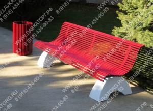 Скамейки металлические и урны