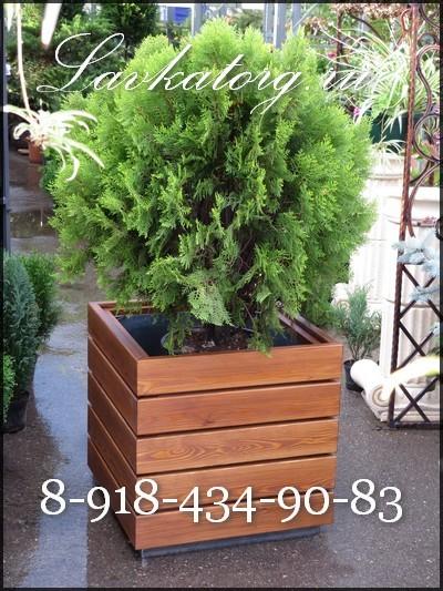 деревянные уличные кашпо КМл-5