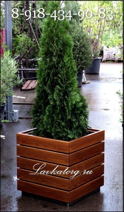 деревянные контейнеры для уличных растений КМл-5