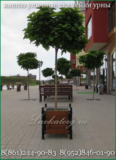 кашпо уличные деревянные на металлокаркасе 8-918-434-90-83