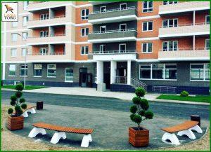 бетонные скамейки радиусные
