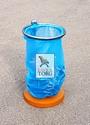 Урны для пляжа с пакетом для мусора на бетоне УПп-1б