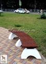 Скамейки радиусные на бетоне