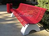 Слальные скамейки на бетоне