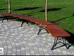 Радиусные скамейки из лиственницы без спинки
