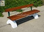 Скамейки парковые на бетоне СБл-2Д