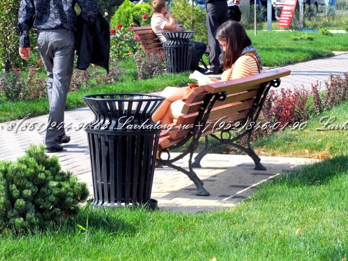 Парковые урны и чугунные скамейки в краснодаре от компании ЛАВКАТОРГ