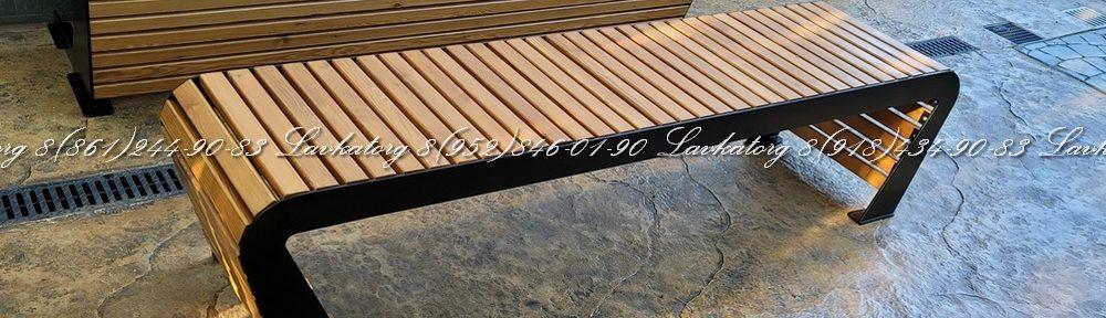 Скамейка без спинки из лиственницы